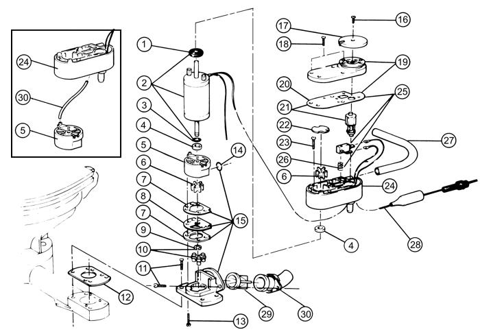 Jabsco 29200 0120 Electric Conversion 12 Volt Dc