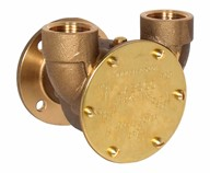 "¾"" bronze pump, <b>40-size</b>, flange-mounted with BSP threaded ports"