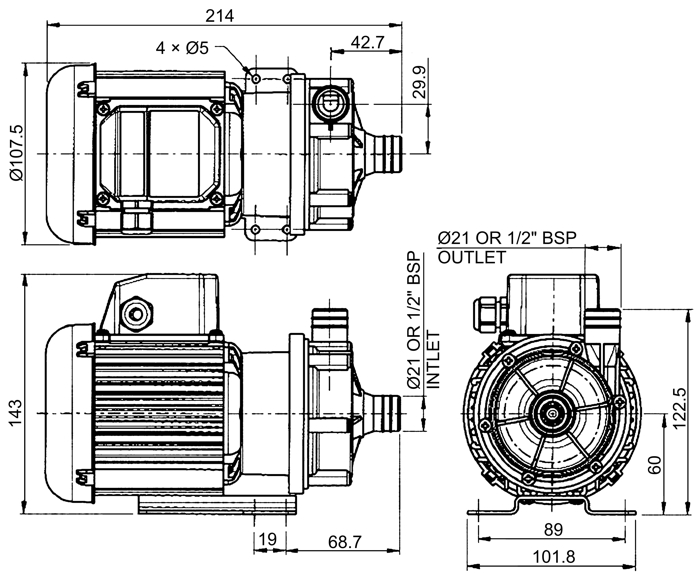 flojet 456958  1  60hz    centrifugal series