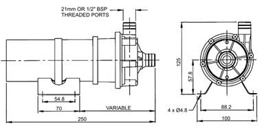 flojet 036994 magnetic drive sealless centrifugal pump. Black Bedroom Furniture Sets. Home Design Ideas